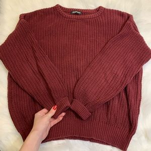 American Apparel Cotton Maroon Knit